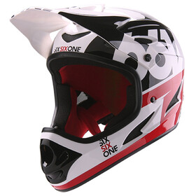 SixSixOne Comp Bike Helmet red/white